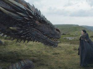 ゲームオブスローンズのドラゴンとジョン