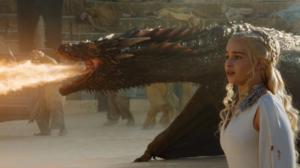 ゲームオブスローンズのデナーリスとドラゴン